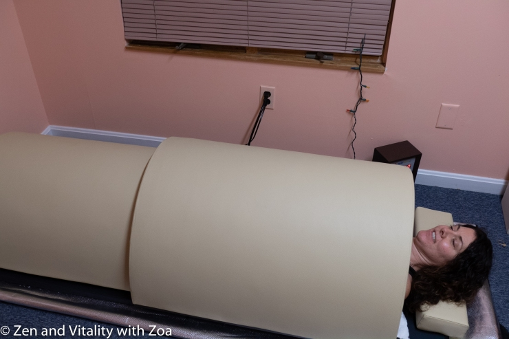 Infrared Sauna for stress relief, metabolism boost and pain reduction.