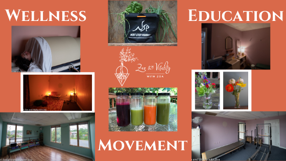 Wellness, Education, and Movement are the focus at Zen and Vitality. Take advantage of the Infrared Sauna, Meditation Cave, Core-Based Resistance Training, Yoga, organic vegetables, organic raw juices, organic flowers, and more!