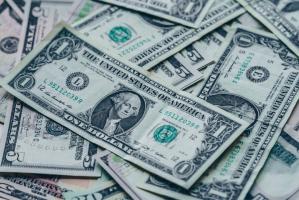 An array of dollar bills