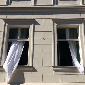 Open widows bring fresh air indoors
